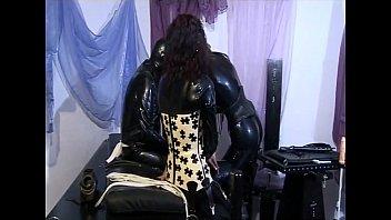 Two femdoms punishing an older man