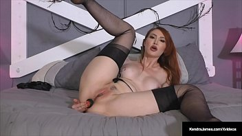Hot Redhead Kendra James Stretches Butthole & Pussy In Hose!