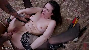 Brunette stepsisters fucked in bondage