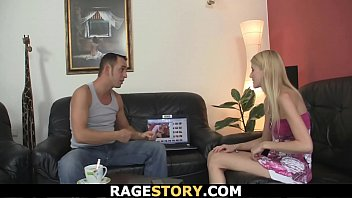 His blonde GF takes it rough and hard