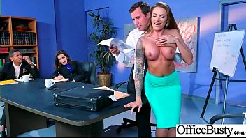 Office Big Tits Girl (Juelz Ventura) Realy Love Hard Baning clip-26