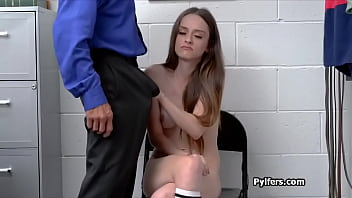 Lily Glee faces officers hard dick after strip search