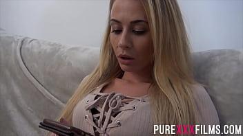 Blonde milf Carmel Anderson fucking a hard big dick