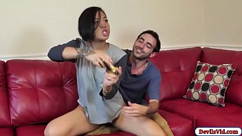 Cute Asian fucks bf and then squirts 5 min