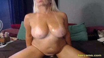 Nasty 47 year old slut teasing on webcam