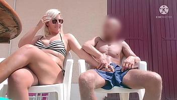 OMG !!! An arrogant neighbor milks me a lot of sperm, must be quick before her husband arrives ...