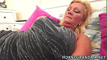 Busty granny mouthful