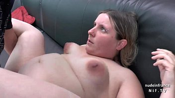 Mature small tit galleries - Casting couch of a fat bbw french blonde sodomized and jizzed on tits by her bf