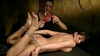 Busty woman Alison Star tied up and gets BDSM lessons. Part 3.