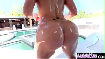 (Savana Styles) Oiled Big Butt Slut Girl Enjoy Deep Anal Sex movie-29