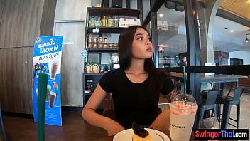 Cute amateur Thai teen sex in the hotel after Starbucks thumbnail