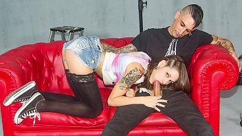LAS FOLLADORAS  Seductive Spanish pornstar Alexa Nasha blows and fucks amateur dude