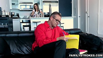 FamilyStrokes - Hot Milf (Carmen Valentina) Fucks Nerdy StepSon On Vacation 12 min