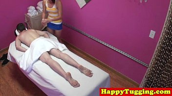 Asian masseuse tugging client 8 min