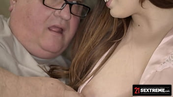 21 Sextreme - Perfect Tit Brunette Wants Old Man To Cum For Her