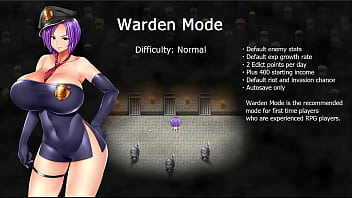Karryn's Prison [RPG Hentai game] Ep.1 The new warden help the guard to jerk off on the floor 11 min