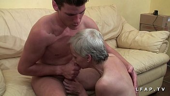 Libertine granny wants hot youngster's cum for her porn casting