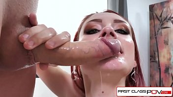 FirstClassPOV - Violet Monroe take a big dick in her throat, big booty