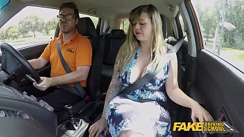 Fake Driving Sc hool Massive British Boobs One itish Boobs One Last Lesson