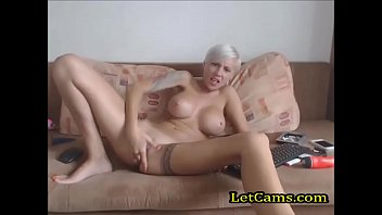 Sexy blonde uk girl private webcam show 11 min