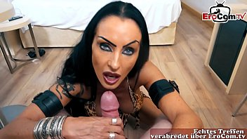 strong make up german gothic milf hooker make homevisit pov