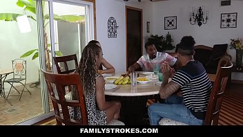 Stroking sex Familystrokes - family dinner fuck fest