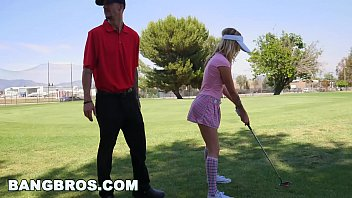 8 golf balls in her pussy Bangbros - teen karla kush sucks dick and at plays golf, not in that order
