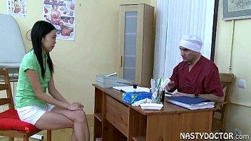 Asian Girl fucking her musch older doctor