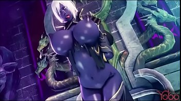Animated monster sex - Dark elf gets fuck by all monster