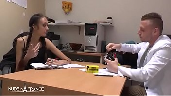 Petite amateur french brunette hard fucked by her classmate 6 min