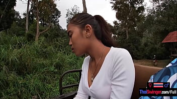 Elephant riding in Thailand with teen couple who had sex afterwards