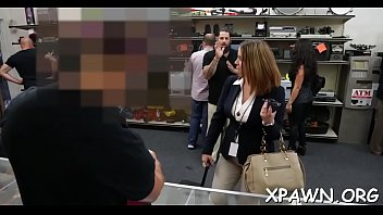 Porn store Large meat stick is drilling a lascivious amateur in the store