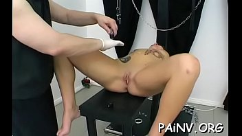 Extreme hard core porn - Fastened fat doxy gets some extreme humiliation treatment