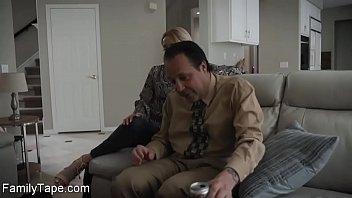 She massage stepdad feet and cock