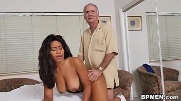Old creep fucks bubble butt black chick Jenna Foxx