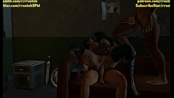 Wonder Woman fucked hard by two strange men 3D Hardcore Porn