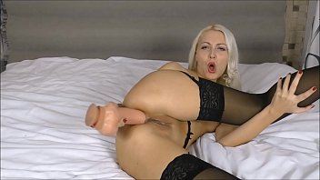 Used a huge dildo for my asshole Webcam russian girl Anal 7 min