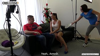 Fat Guy Can't Get His Cock up for Mea Melone and a Huge Audience 12 min