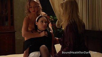 Voyeur Lesbian Maid Caught Spying And To Join In Threesome