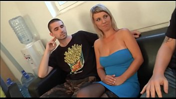 Next blonde girl fucks on casting before own boyfriend