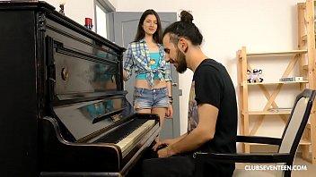Horny teen fucks her piano teacher