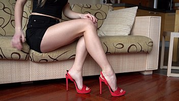 Sexy woman foot Hot woman shows her high heels and legs