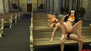 Catholic Fathers Abuse and Fuck the New Innocent Nuns in the Temple 3D Porn Hentai