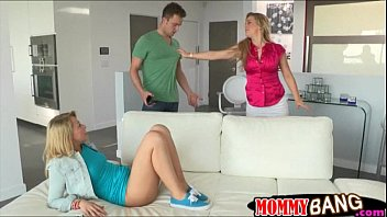 Zoey Monroe share a cock with busty stepmom Cherie Deville