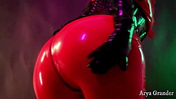 Latex Sexy MILF teasing