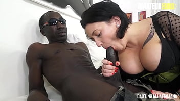 AMATEUR EURO (Paola Diamante, John Free) Busty BBW Chick Gets Rough Anal Pounding In Interracial Sex Session