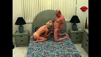 Young Horny Slut Sucking Old Mans Cock 3 min