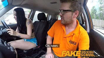 Fake Driving School Gamer babes pussy covered in cum after blowjob thumbnail