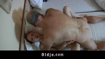 Old pervert man fucked by a horny young maid