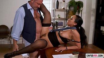 Hot Latina secretary Vicki Chase fucked on her boss desk - Finding Rebecca Scene 1